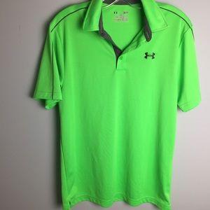 Under Armour Neon Green Polo Shirt